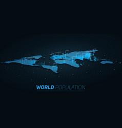 world population map big data vector image