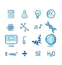 School doodles set vector