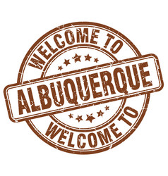 Welcome to albuquerque brown round vintage stamp vector