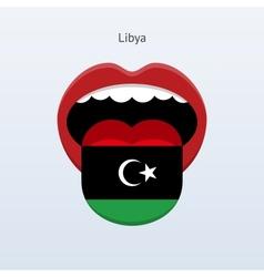 Libya language abstract human tongue vector