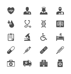 Healthcare flat icons vector image
