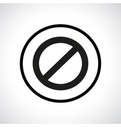 Prohibition symbol vector