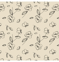 Seamless cute flower pattern vector image