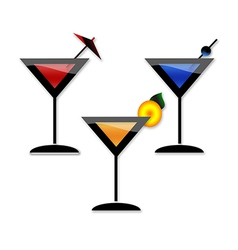 Coctail martini party vector