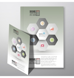 Abstract hexagonal infographic pattern brochure vector