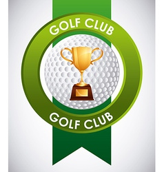 Golf club emblem vector
