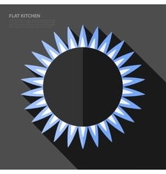 Flat gas burner icon vector