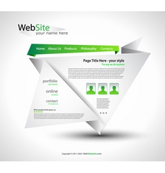 origami website vector image