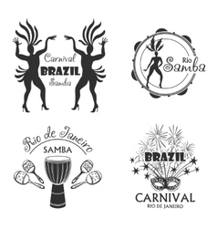 Brazilian carnival big set of logo and emblem vector