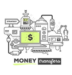 Creative professional mechanism for money vector