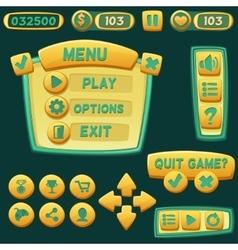 Set of bright cartoon buttons vector