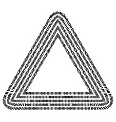 Binary code triangle numbers concept vector