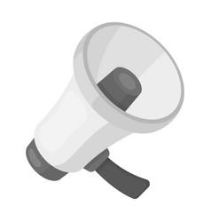 A football fan shoutfans single icon in vector