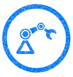 Artificial manipulator rounded grainy icon vector