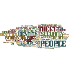 Asian countries worried about identity theft text vector