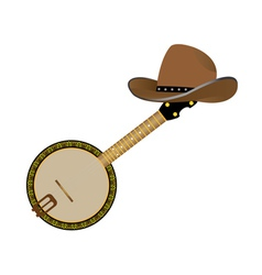 Banjo and hat vector