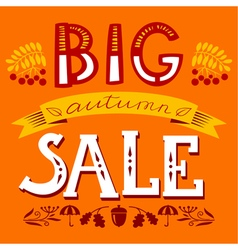 Big autumn sale lettering composition vector image vector image
