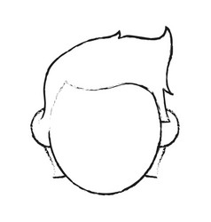Blurred silhouette image faceless front view man vector