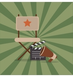 cinematography related icons image vector image