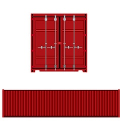 Container back and side view vector image