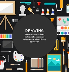 Drawing Concept Flat Style with Place for Text vector image