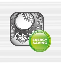 energy saving design vector image
