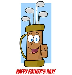 Fathers Day Greeting Card With Golf Bag vector image