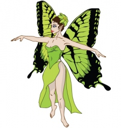 green fairy vector image vector image