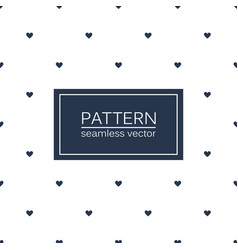 Hearts seamless minimalistic pattern vector