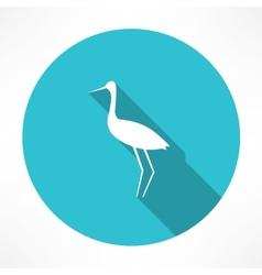 Heron icon vector