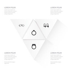 Icon instrument set of eye-wear engagement vector