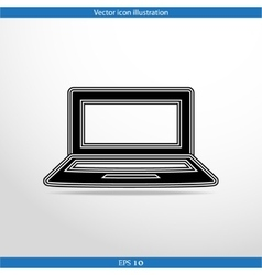 laptop web icon vector image
