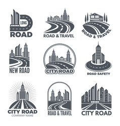 logo designs with of roads and vector image