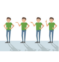 man male person funny cartoon casual in various vector image