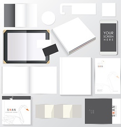 Mock up business branding templates vector