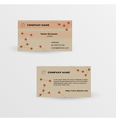 modern brown business card template vector image vector image