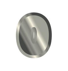 Number 0 steel metal font zero silver alphabet vector