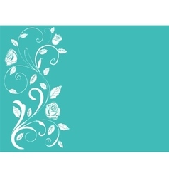 Ornamental shrub monogram vintage roses vector
