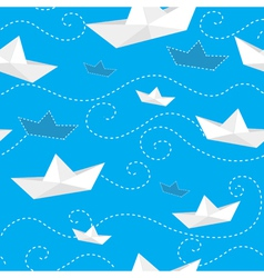 Paper ships vector image
