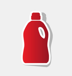plastic bottle for cleaning new year vector image vector image