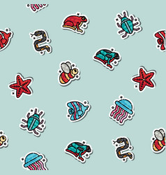 Poisonous creatures concept icons pattern vector