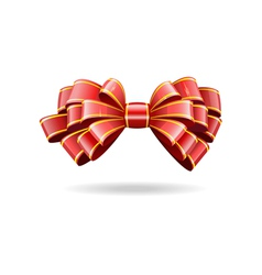 shiny red ribbon vector image vector image