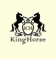 Standing horse decor logo vector