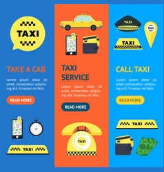 taxi transportation service set vector image vector image