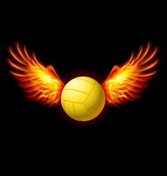 Volleyball emblem vector