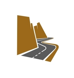 Winding mountain road or highway vector image vector image