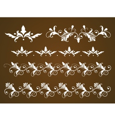 set of vintage calligraphic ornaments vector image