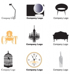 furniture logos vector image