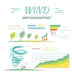 Wind Infographics Tornado and Hurricanes Banners vector image