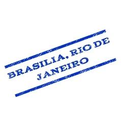 Brasilia rio de janeiro watermark stamp vector